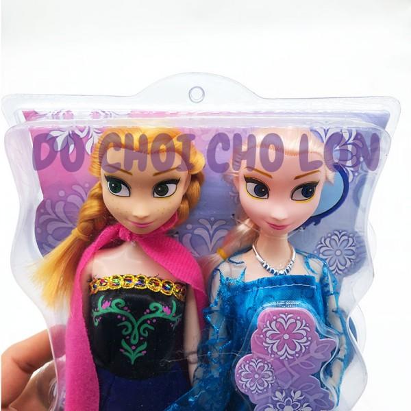 Bộ đồ chơi búp bê công chúa Frozen: Elsa và Anna có khớp (VỈ ÉP)
