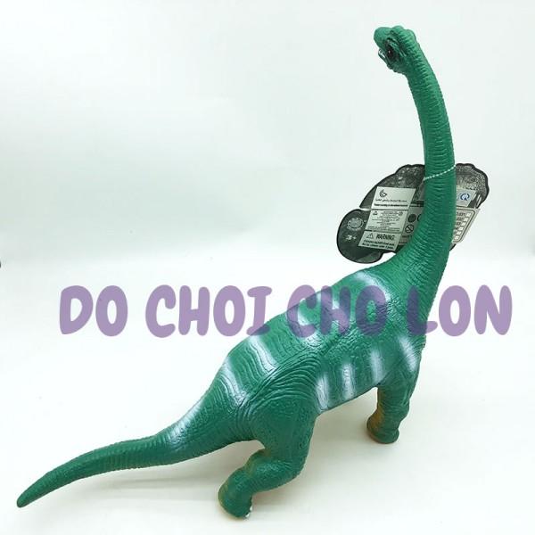 Đồ chơi khủng long cổ dài Brachiosaurus bằng nhựa mềm nhồi bông có nhạc 024