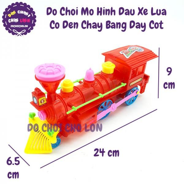 Đồ chơi đầu xe lửa tàu hỏa có đèn chạy bằng dây cót 106B1