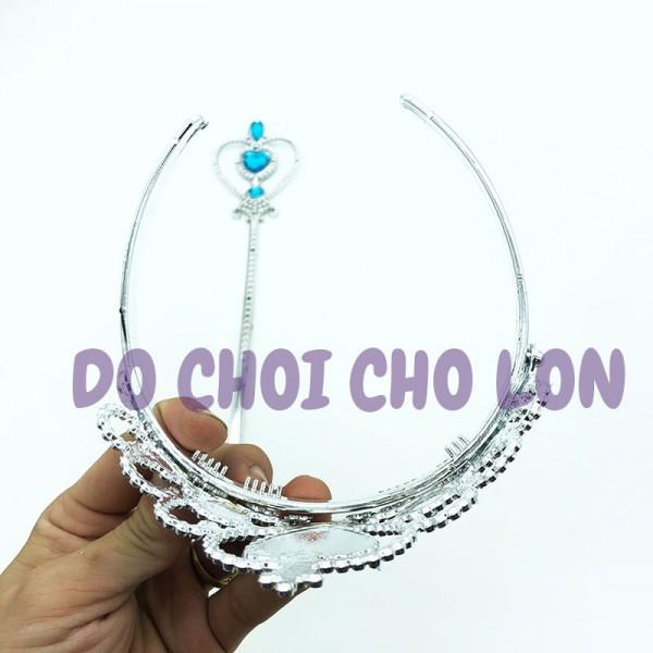 Phụ kiện hóa trang Elsa vương miện và quyền trượng P2713
