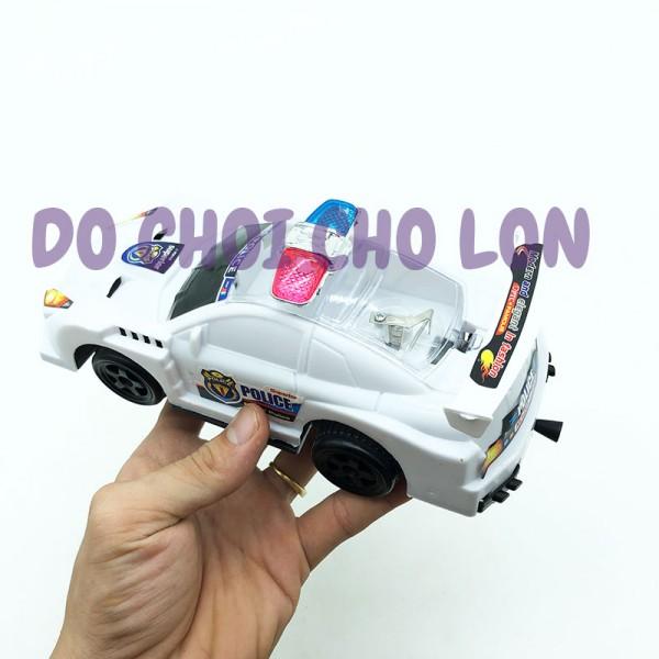 Đồ chơi xe hơi cảnh sát ĐÈN bằng nhựa chạy bằng dây cót 201-24A