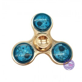 Hộp thiếc đồ chơi con quay Spinner 3 cánh đèn bằng sắt