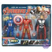 Vỉ đồ chơi mô hình 3 siêu anh hùng Avengers có đèn