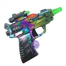 Đồ chơi súng ngắn xi 7 màu dùng pin có đèn nhạc