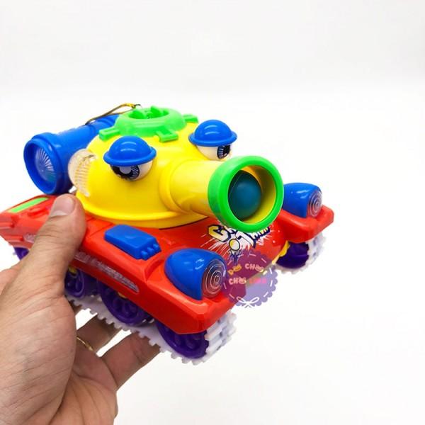 Lồng đèn trung thu xe tăng bắn đạn nhựa dùng pin có đèn nhạc