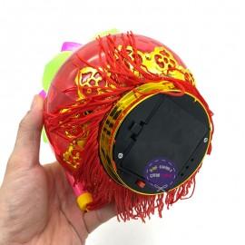 Lồng đèn trung thu quả cầu bông sen 3D dùng pin có đèn nhạc