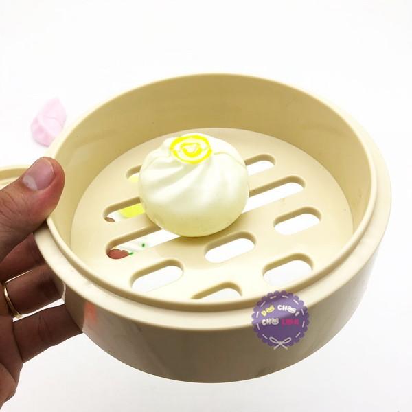 Bộ đồ chơi xửng tre hấp bánh bao há cảo bằng nhựa 190C1