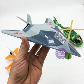 Hộp đồ chơi 3 mô hình máy bay chiến đấu chạy trớn có đèn nhạc