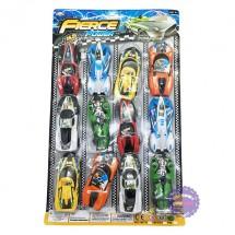 Vỉ đồ chơi 2 xe đua thể thao bằng nhựa chạy trớn 198-70