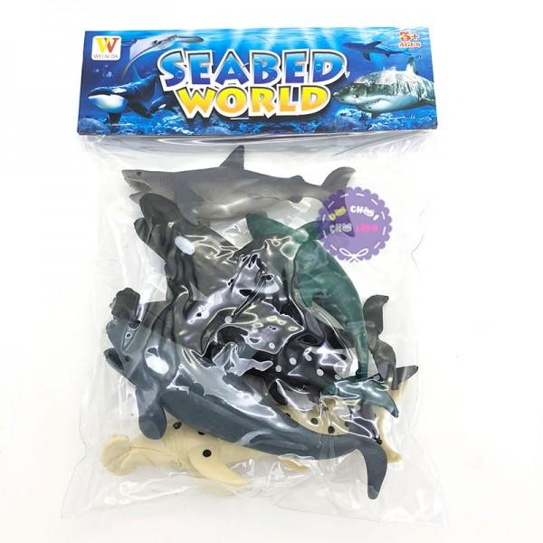 Bộ 6 con sinh vật biển: cá mập, cá voi Seabed World 2004B