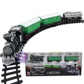 Hộp đồ chơi đường ray xe lửa 3 toa chở dầu chạy pin có đèn nhạc