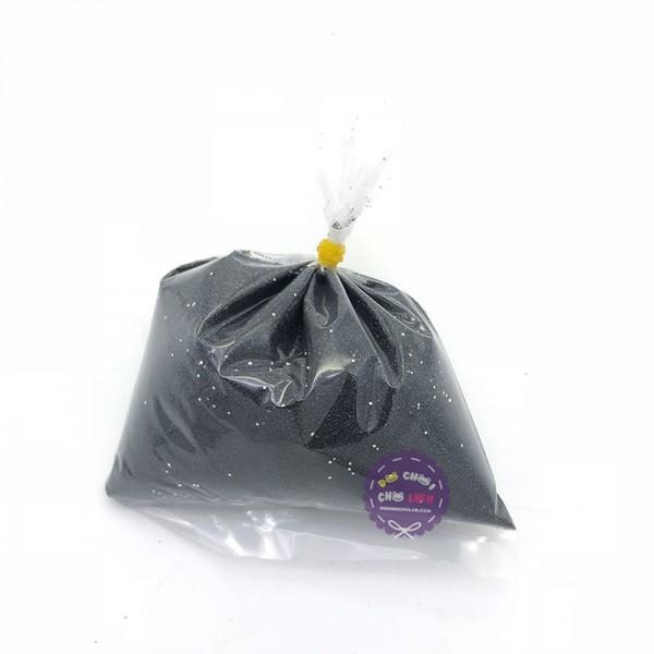 Bịch cát mịn kim tuyến 200 gram màu đen dùng để tô tranh cát