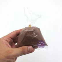 Bịch cát mịn kim tuyến 200 gram màu nâu dùng để tô tranh cát