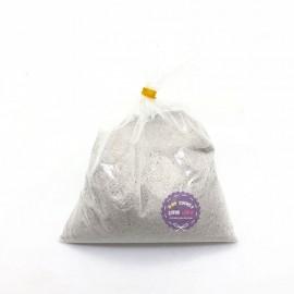Bịch cát mịn kim tuyến 200 gram màu trắng dùng để tô tranh cát