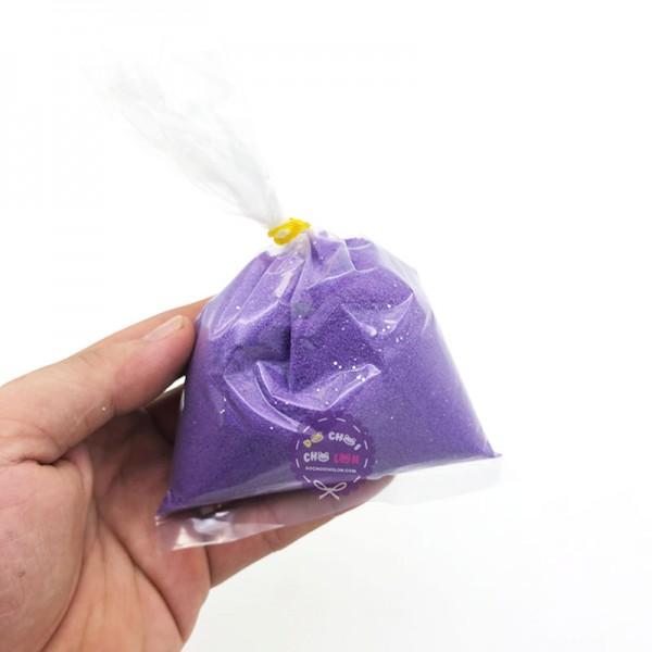 Bịch cát mịn kim tuyến 200 gram màu tím dùng để tô tranh cát
