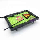 Vỉ đồ chơi bàn Bi Da lỗ Mini Snooker bằng nhựa 2015E