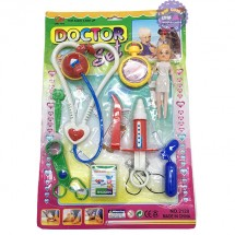 Vỉ đồ chơi dụng cụ y tế làm bác sĩ & búp bê nhí