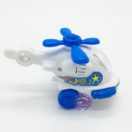 Đồ chơi máy bay trực thăng cảnh sát mini chạy bằng dây cót