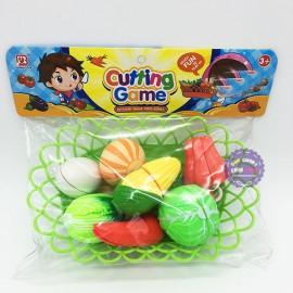 Bộ đồ chơi rổ đựng rau củ quả cắt Cutting Game bằng nhựa