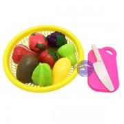 Bộ đồ chơi rổ đựng trái cây cắt bằng nhựa Long Thủy