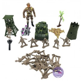Đồ chơi mô hình quân sự nhựa xe tăng, máy bay, trạm gác Military