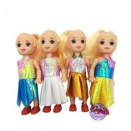 Bộ đồ chơi 4 bé búp bê baby bằng nhựa