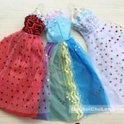 Bộ 3 đầm dạ hội cho búp bê