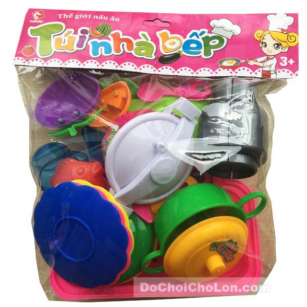 Bộ đồ chơi túi nhà bếp 17 món