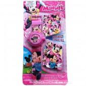 Vỉ đồ chơi đồng hồ chuột Mickey chiếu hình ảnh lên tường