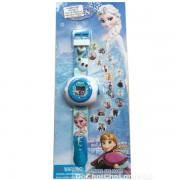 Vỉ đồ chơi đồng hồ công chúa Frozen chiếu hình ảnh lên tường