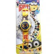 Vỉ đồ chơi đồng hồ Minions chiếu hình ảnh lên tường