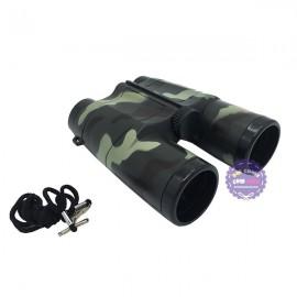 Hộp đồ chơi ống nhòm quân sự bằng nhựa có dây đeo 4x35mm