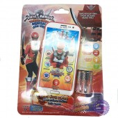 Vỉ đồ chơi điện thoại siêu nhân hải tặc ảo 3D dùng pin có đèn nhạc