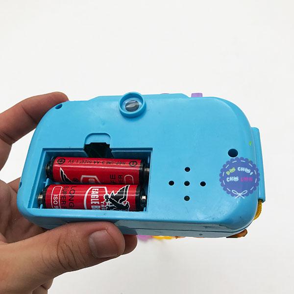 Vỉ đồ chơi máy chụp hình phát nhạc dùng pin có đèn
