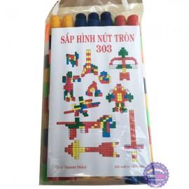 Đồ chơi sắp hình nút tròn 60 mảnh ghép