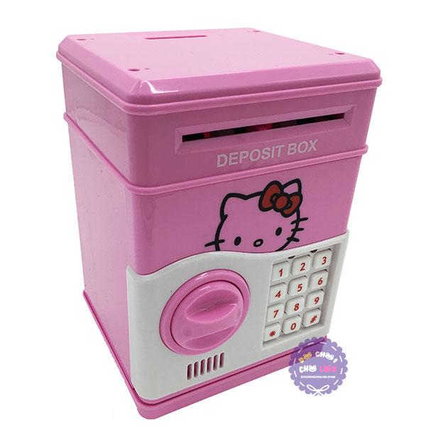 Hộp đồ chơi két sắt mini đựng tiền hình mèo Hello Kitty