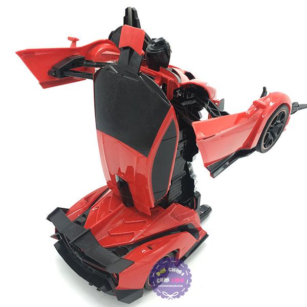 Hộp đồ chơi robot biến hình thành xe Lamborghini điều khiển từ xa