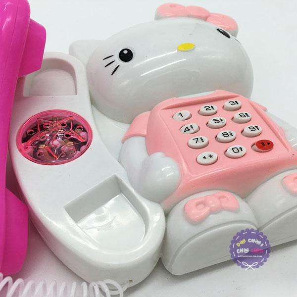 Vỉ đồ chơi điện thoại bàn mèo Hello Kitty