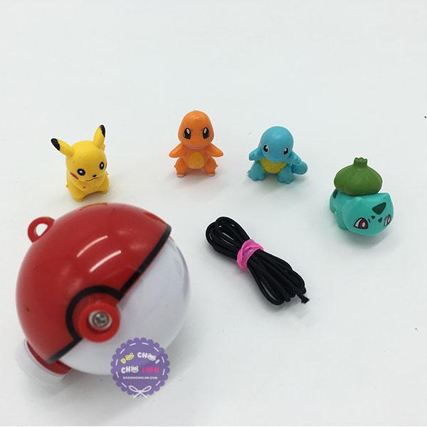 Vỉ đồ chơi quả cầu Pokemon 4 con