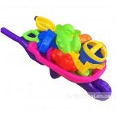 Đồ chơi xe rùa cút kít đi biển loại trung túi lưới