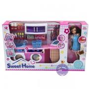 Hộp đồ chơi nhà bếp pin: Máy giặt, bàn ủi & búp bê baby 2802SD