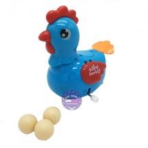 Hộp đồ chơi con gà đẻ trứng vặn cót bằng nhựa