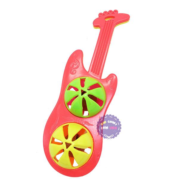 Đồ chơi lục lạc lắc 2 banh đàn Guitar điện bằng nhựa