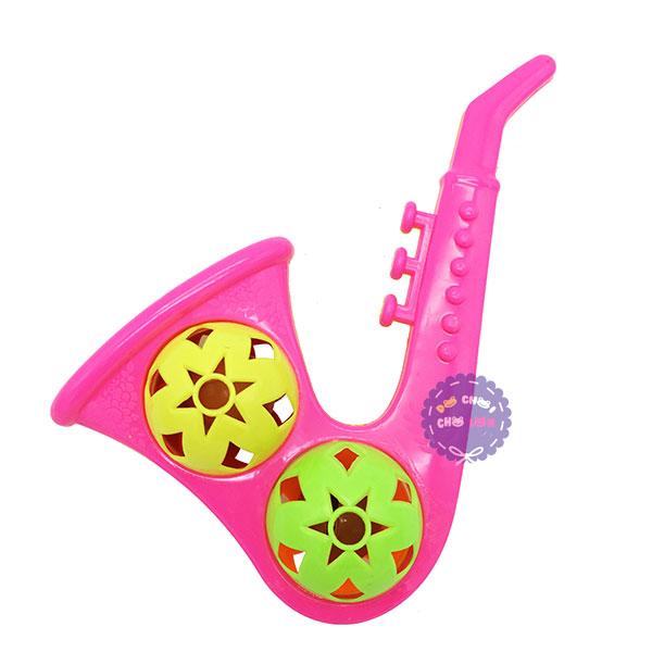 Đồ chơi lục lạc lắc 2 banh kèn Saxophone bằng nhựa