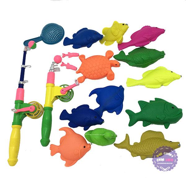Bộ đồ chơi câu cá nam châm dưới nước 2 cần dài