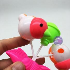 Đồ chơi xúc xắc lắc 2 chú gà bằng nhựa