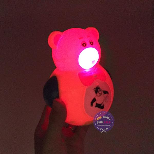 Đồ chơi lật đật gấu dùng pin