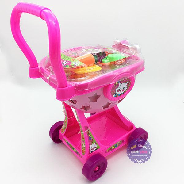 Đồ chơi xe đẩy trái cây mèo Hello Kitty Cholo Blóc