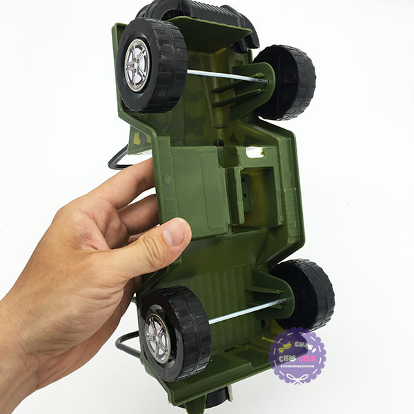 Đồ chơi xe jeep chiến đấu chứa xếp hình Cholo Blóc