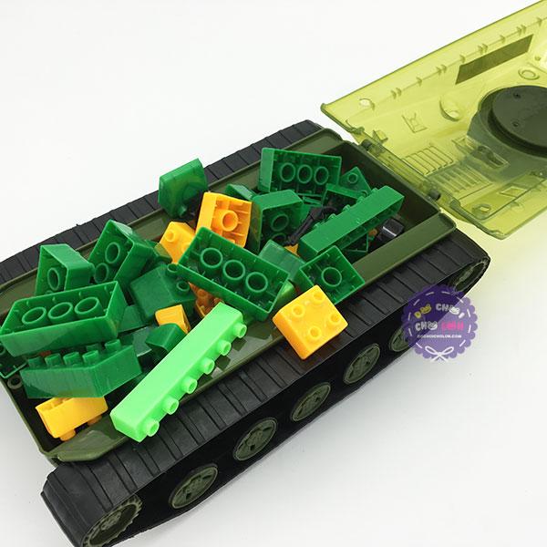 Đồ chơi xe tăng chiến đấu chứa xếp hình Cholo Blóc